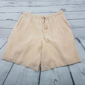 August Silk Sport Shorts Size Small 100% Silk Used